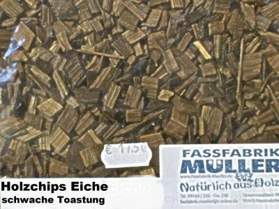 Holzchips Eiche -schwache Toastung- 1Kg Packung