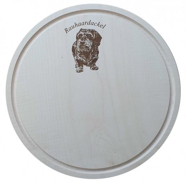 Rauhaar Dackel Schneidebrett 28 cm