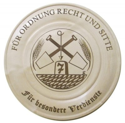 Siebener Feldgeschworenenvereinigung - Teller - Wandteller