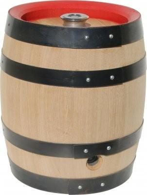 Bierfass mit original Edelstahlblase, 20 Liter Eiche massiv, bayr.Anstich/Kugelventil - HOLZKEG