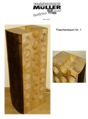 Flaschenbaum - Baumstamm Weinregal - Pappel natur