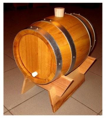 Schnapsfass - Holzfass 12 Liter Akazie ,mit verzinkten Fassreifen, kpl.