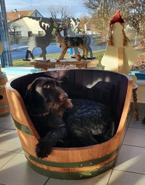 Das Hundefass, ein Hundekorb aus Eichenholz- hohe Ausführung!