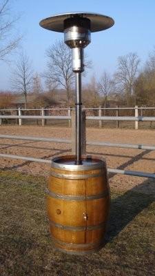 Weinfass-Heizstrahler