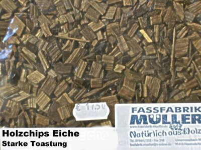 Holzchips Eiche -starke Toastung- 1Kg Packung