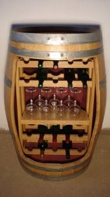 Weinfass Regal aus Barriquefass für 20 Weinflaschen,
