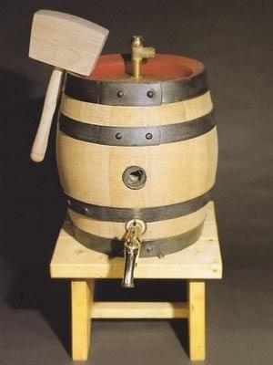 Bierfass 20 Liter, Spundring, 2 Siphonzapflochbüchsen