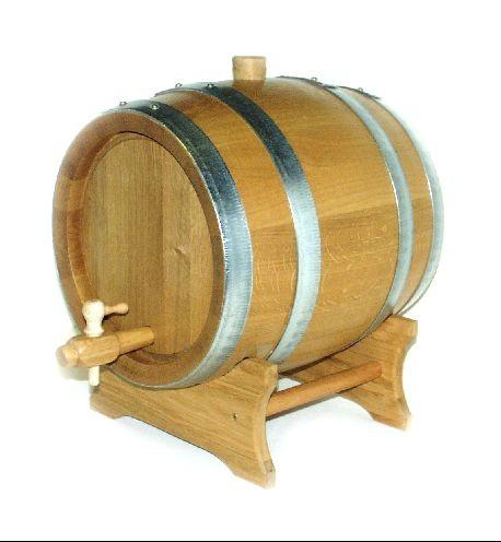 Weinfass - Holzfass 30 Liter Eiche natur, mit verzinkten Reifen (mit Spund o. Hahn und ohne Lager)