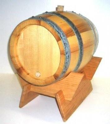 Schnapsfass - Holzfass 12 Liter, aus Eschenholz, kpl.mit Lager , Spund und Hahn.