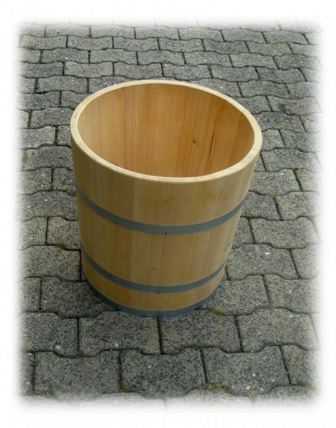 Krautkübel, Ø45cm, höhe 50cm, aus Fichte massiv, mit verzinkten Reifen.