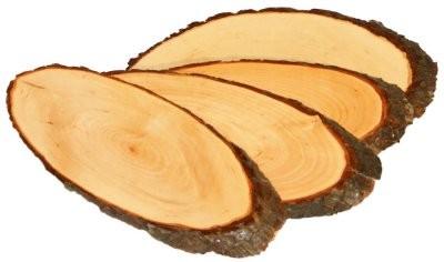 Rindenbrett ovale Form 50 cm