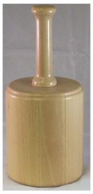 Bierschlegel groß / rund Buche massiv,D=140mm, L=170mm