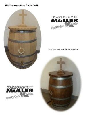 Weihwasserfass - Weihwasserbehälter , Eiche massiv ca.50 Liter