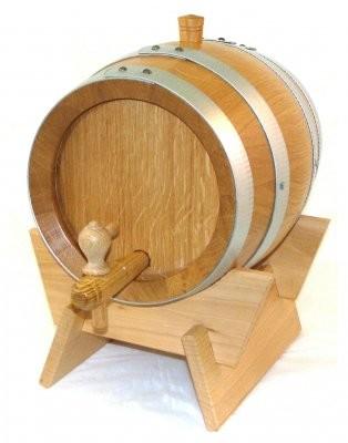 Weinfass - Holzfass 12 Liter Eiche natur, mit verzinkten Reifen, kpl.