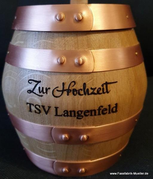 Holzbierkrug 0,5Liter – Zur Hochzeit