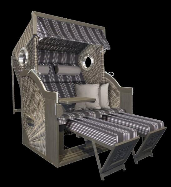 PURE Comfort XL Strandkorb Dessin 423-Anthique Stone Grey