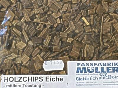 Holzchips Eiche -mittlere Toastung- 1Kg Packung