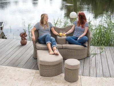 ANCONA FEIERABEND¬LOUNGE stylische Lounge bestehend aus 7-Teilen, SETPREIS