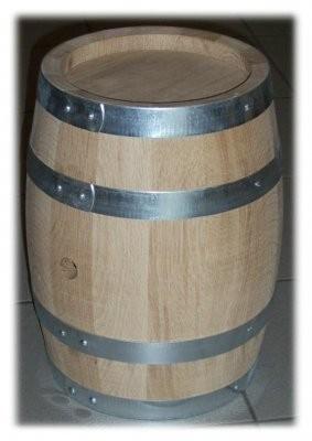Holzfass 12,5 Liter 2te-Wahl , Eiche Natur, mit verzinkten Reifen,