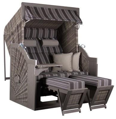 DEVRIES Pure Comfort XL Strandkorb Grey Dessin 423