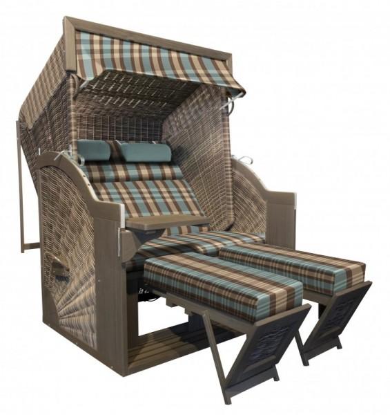PURE Comfort XL Strandkorb Dessin 436 - Anthique Stone Grey